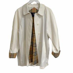 Vintage 80's Burberry Nova Lining Button Up Coat